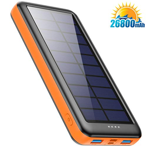 Feob Cargador Solar 26800mah, Power Bank Solar【2020 IC de
