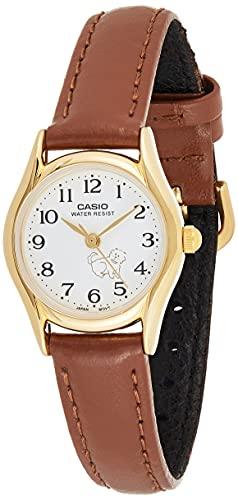 Casio Women's LTP1094Q-7B7 White Leather Quartz Fashion Watch