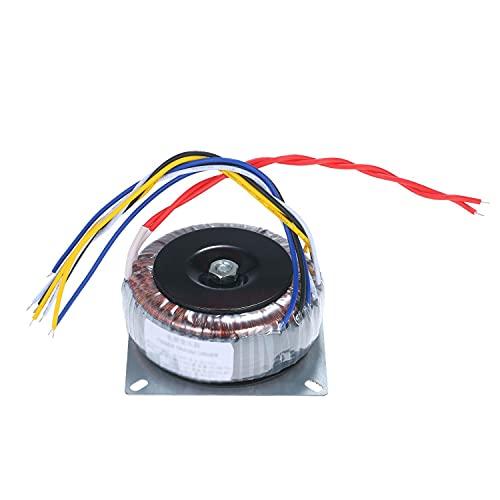 Trasformatore toroidale 200W puro rame monofase alimentazione trasformatore monofase per tono preamplificatore protezione circuito AC 110V 220V a AC 12V/28V (dimensioni: 220v)