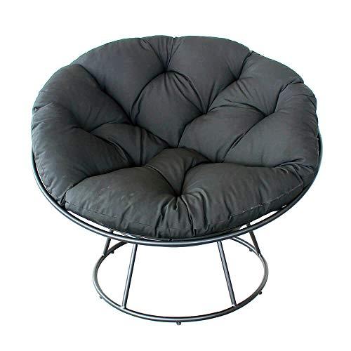 iD FOR YOU - Poltrona Loveuse Galaxy in metallo galvanizzato con cuscino in poliestere, colore: Grigio