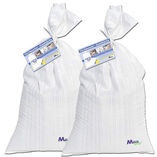 Sandsäcke gefüllt mit Sand schneller Schutz Hochwasser (2 Stück befüllt)