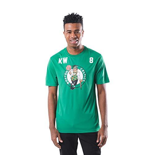 Ultra Game NBA Boston Celtics - Kemba Walker Mens Active Tee Shirt, Team Color, Medium