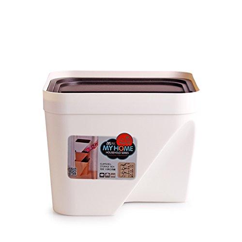 Catégorie de cuisine Barillet d'ordures Ménage Barillet de rangement carré ( Couleur : Blanc , taille : 10L )