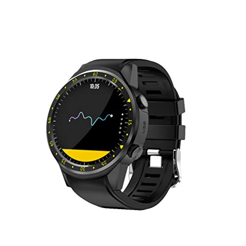 NICERIO Smartwatch,Sport Smart Watch mit GPS Kamera Unterstützung Pulsmesser Stoppuhr Tacho Bluetooth Smartwatch Activity Tracker für Android IOS Telefon (Schwarz)