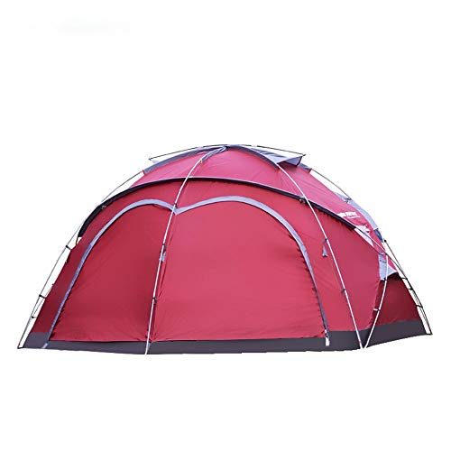 Zelten Family Camp Zelt Freien Wasserdicht-Zelt for Camping Wandern Reise Klettern Easy Set Up Leichten Camping (Color : As Shown, Size : One Size)