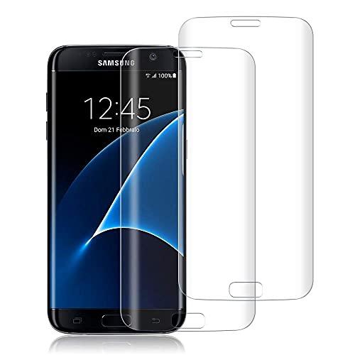 wsiiroon Panzerglas Schutzfolie kompatibel mit Samsung Galaxy S7 Edge (2 Stück), 9H Festigkeitgrad Panzerglasfolie, Anti-Kratzen, Anti-Öl, Ideal Bildschirmschutzfolie