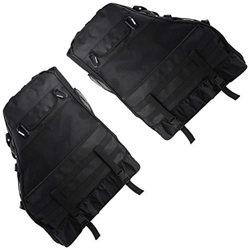 FAVOMOTO 2 Stück Überrollbügel Aufbewahrungstasche Käfig für Wrangler mit Multi-Taschen Organizer Cargo Bag Satteltasche (Schwarz)