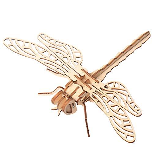 knobelspiele Insektenpuzzle Holz DIY Montage 3D Puzzle Spielzeug Pädagogisches Puzzle Spielzeug für Kinder Puzzle DIY Produktion von Insekten Kindergarten Montage Puzzle Lernspielzeug