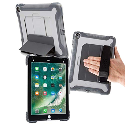 """Safeport Shock Absorbing Moulded TPU Shell Rugged Case with Military Grade Drop Protection, Compatible with iPad Air, Air 2, iPad Pro 2016 (9.7""""), iPad 2017/2018 (with 9.7' screen)"""