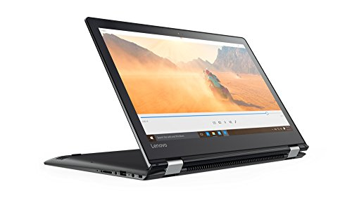 Lenovo Yoga 510 35,6 cm (14,0 Zoll Full HD IPS Touch) Convertible Laptop (Intel Core i7-7500U, 8GB RAM, 128GB SSD, AMD Radeon R5 M430 2GB, Windows 10 Home) schwarz