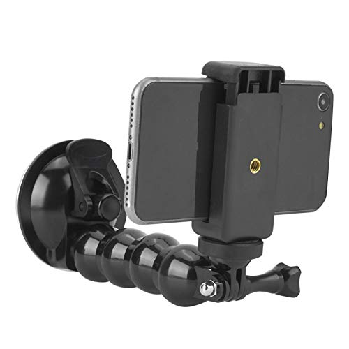 DAUERHAFT Wear-Resistant ABS Material Camera Window Mount Comes with a Mobile Phone support clip,for Xiao Yi
