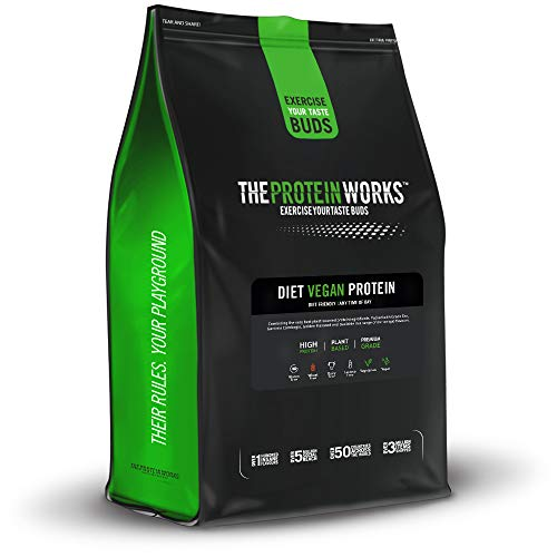 THE PROTEIN WORKS Diet Vegan Protein Powder | 100% Plant-Based | Low Calorie & Low Sugar | Supports Weight Loss | Chocolate Silk | 1 kg