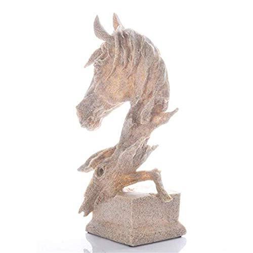 Estatua De Escultura De Resina De Piedra Arenisca Figuras Coleccionables Deco De Escritorio,Estatua De Cabeza Escultura Adornos De Resina Accesorios De Decoración del Hogar,Regalo Creativo