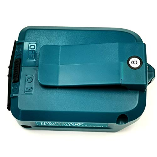 Cargador y Cargador para adaptador de alimentación USB cargador compatible para batería de litio 18V 14V de Makita laipuduo