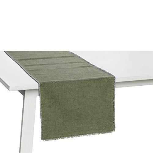 Pichler Tischläufer Tischset Suna, Used-Optik, prewashed jade, Größe Tischwäsche:Tischsets 33 x 48 cm