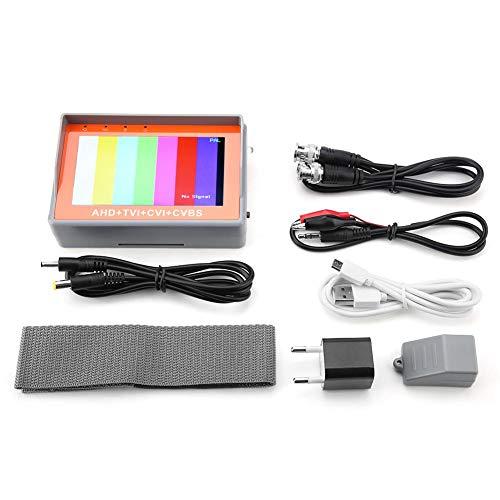 1080P / 5MP AHD CCTV AC 220V 4-en-1 CCTV Monitor Para Cámara Analógica de Seguridad AHD TVI CVI CVBS (Enchufe de la UE)