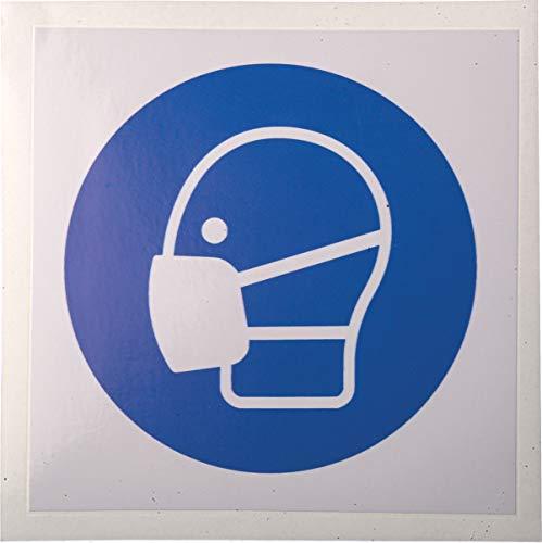 RS PRO Gebotszeichen mit Piktogramm: Maske, Vinyl, selbstklebend, B 100mm, H 100 mm