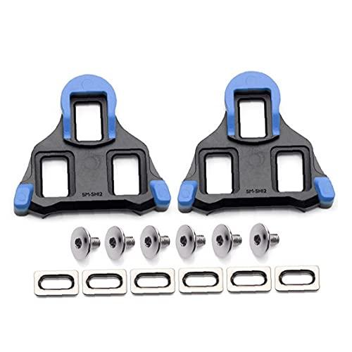Hainice Tacos de bicicleta de carretera antideslizantes para pedal de bicicleta placa de bloqueo compatible con SPD SH10 SH11 SH12 zapatos