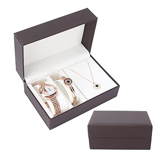 Armreif, Luxuriöses Aussehen Roségold Uhrenset zum Geburtstag für Urlaub für Frauen