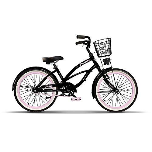 Plumbike Kinderfahrrad 20 Zoll Mädchen Fahrrad Für Kinder ab 5-8 Jahre Kinder Fahrrad American Cruiser Beach Cruiser Für Mädchen Geeignet ab 125-140 cm