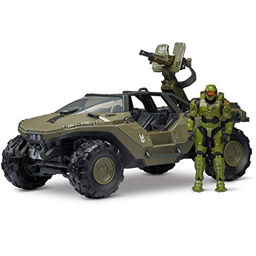 Halo HLW0016 4''World Deluxe Warthog and Master Chief