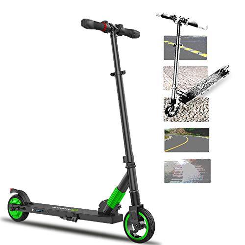 HST S1 Faltbarer Elektroroller, Elektro Roller, 250 W, 5,0 Ah, 25,2 V, 12 km Langstreckenbatterie, bis zu 23 km / h, leicht zusammenklappbarer und tragbarer E-Scooter für Kinder und Erwachsene (Grün)
