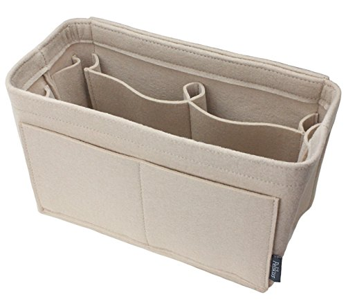 Pelikus Felt Purse & Tote Organizer Insert/Multi-Pocket Handbag Shaper (Medium, Beige)