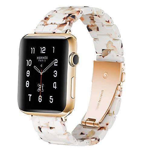 Compatible con Apple Watch Correa 38-40mm/42-44mm Series 5/4/3/2/1, correa delgada de resina, accesorio de 38-40mm Nougat