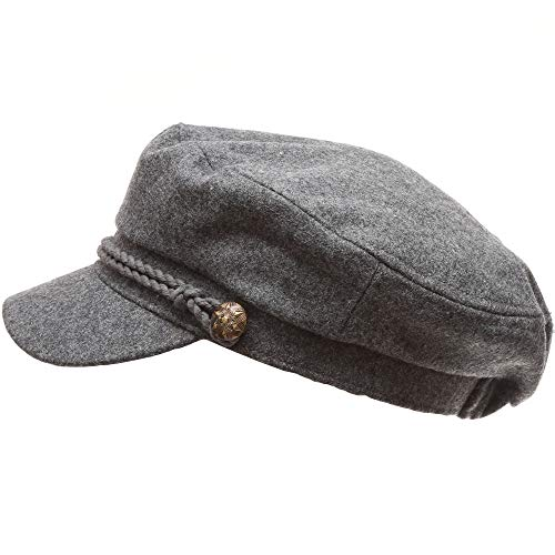 MEANIT Women/'s Classic Mariner Style Greek Fisherman/'s Sailor Newsboy Hats with Comfort Elastic Back