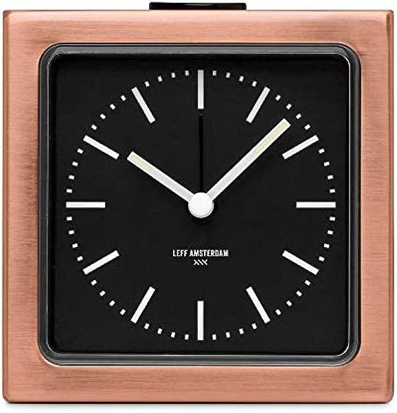 LEFF Amsterdam Analog Alarm Clock Block Copper Bedroom Home Decor