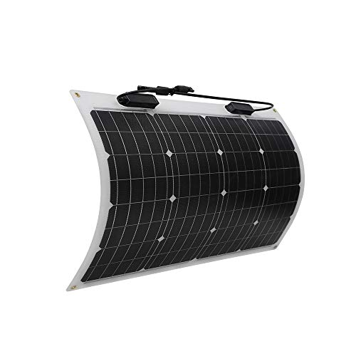 Renogy 50 Watt 12 Volt Extremely Flexible Monocrystalline Solar Panel - Ultra Lightweight, Ultra...