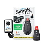 Simple Key, Key Fob and Key Programmer with Interchangeable 3 & 4 Button Keypads, Key Replacement Kit, Simple Key Programmer for Car Remote Start and Keyless Entry