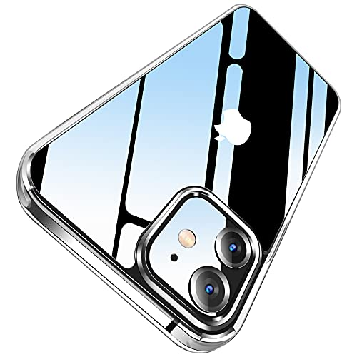 LETSCOM Crystal Clear Case Compatible with iPhone 12 & iPhone 12 Pro, Anti-Yellowing, Corner Shockproof, Military Grade Protection Phone Case - Clear