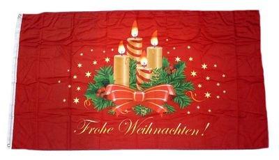 Fahne/Flagge Frohe Weihnachten Advent 90 x 150 cm