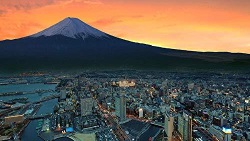 TOPJPG Puzzle Jigsaw 1000 Piezas Mount Fuji Snowy Peak Japan Sunset City Adulto Ocio Entretenimiento Niños Juguetes Educativos Adult Child Jigsaw Puzzle Gift