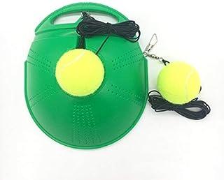 TaktZeit Tennis Trainer Self Training Rebound Baseboard Tennis Training Gear with 2 String Balls (Green-1.0)