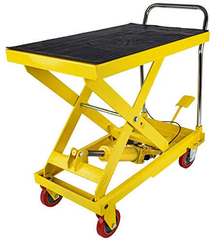 JEGS 81454 Hydraulic Lift Cart Capacity: 1100 lb. Raised Height: 31 in