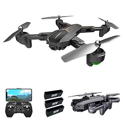 Goolsky VISUO XS812 Drone con Fotocamera 4K Drone GPS 2.4G WiFi FPV Drone Pieghevole modalità Senza Testa GPS Segui Il Gesto di ripresa Un Drone di Ritorno Chiave per Adulti