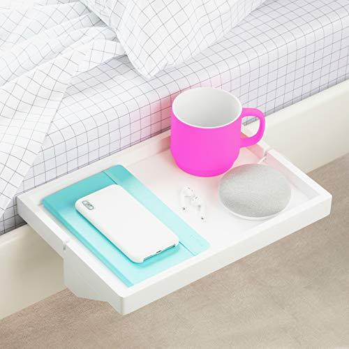 BedShelfie Das Original Nachttisch Regal - 3 Farben / 2 Größen - GESEHEN AUF Business-Insider und Kickstarter (Regulär Größe, Bambus in Weiß)