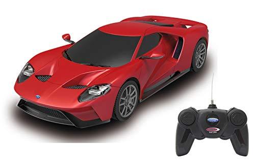Jamara 405156-Ford GT 1:24 Luci LED, Licenza ufficiale, Velocità 7 Km/h Auto radiocomandata, Colore Rosso, 405156