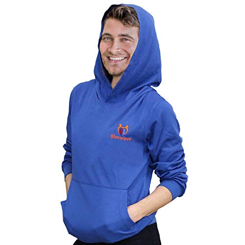 Blue Head Hood Attached Hoodie By Bloc Wave