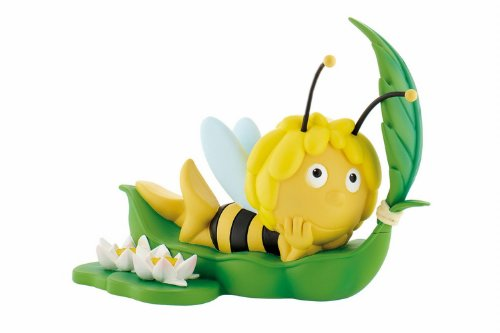 Bullyland 43402 - Spardose - Biene Maja auf Blatt, ca. 20 cm