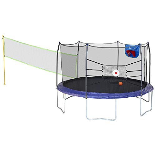 Evaxo 15' Round Sports Arena Trampoline and Enclosure,Royal...