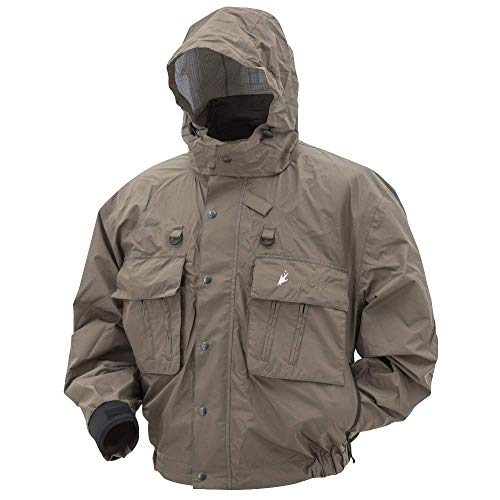 FROGG TOGGS Java Hellbender Fly & Wading Jacket, Stone, Size Small