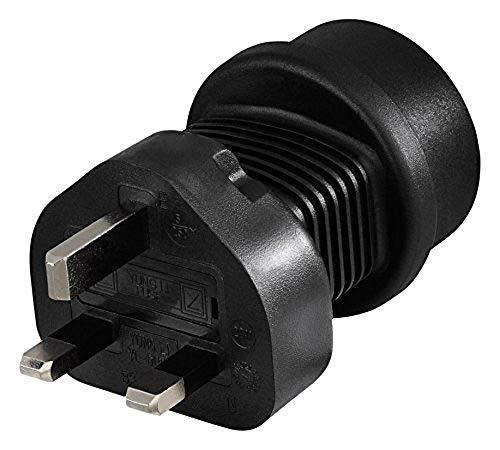 Hama 00128039 stekkeradapter type G (RU) type F, zwart