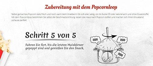 Popcornloop Heimkino-Set inkl. Rührstab, 1x Ersatzhaube, 1x Premium Popcorn Mais 500g - 8