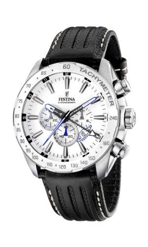 Festina Herren Chronograph Quarz Uhr mit Edelstahl Armband F16489/1