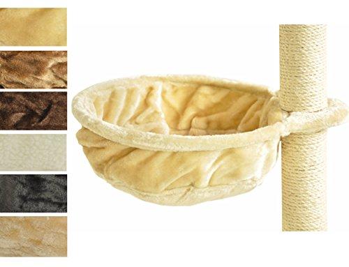 nanook Liegemulde für kräftige Katzen, Schlafmulde und Aussichtsplattform für Kratzbäume, kuscheliges Katzenbett zum Nachrüsten, 40 cm Ø, Tiefe 12 cm