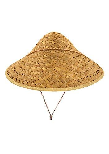 Islander Fashions Mens Womens Männlich Stroh Beachcomber Hut Herren Hawaiian Fancy Sombrero Hut Zubehör (Coolie Straw Hat with Edge Binding) One Size