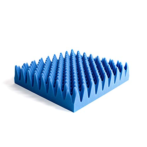 Hermell Convoluted Wheelchair Cushion, Blue Egg Crate Foam, No Cover - 3 Inches Thick